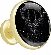 Xingruyun Drawer pulls gold Starlight Elk cabinet