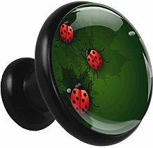 Xingruyun Drawer pulls Ladybugs Green Cabinet
