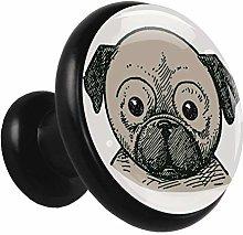 Xingruyun Drawer pulls Pug Dog Cabinet Hardware