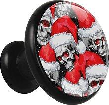 Xingruyun Drawer pulls Skull Christmas Hat Cabinet