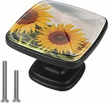 Xingruyun Drawer pulls sunflower cabinet knobs 4