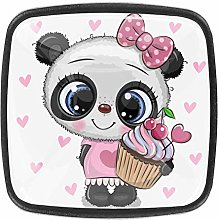 Xingruyun Dresser knobs Panda Bow Cake bathroom