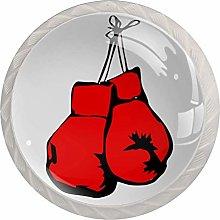 Xingruyun Dresser knobs Red Boxing Gloves bathroom