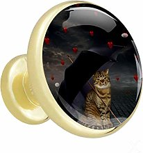 Xingruyun Kitchen cabinet knobs gold Funny Cats
