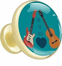 Xingruyun Kitchen cabinet knobs gold Guitar