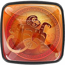 Xingruyun Kitchen cabinet knobs Orange Red Monkey