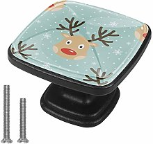 Xingruyun Nightstands knobs Christmas Deer dresser