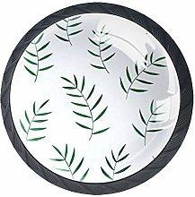 Xingruyun Nightstands knobs Green Leaf dresser
