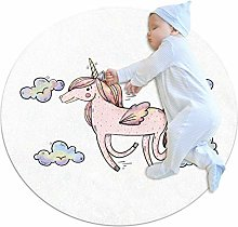 Xingruyun Nursery Area Rug Cute Unicorn (255) Play