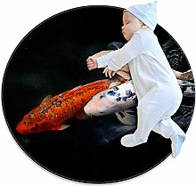 Xingruyun Round Floor Mat Color Goldfish Koi