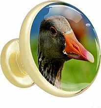 Xingruyun Wardrobe knobs Animal Duck dresser knobs