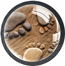 Xingruyun Wardrobe knobs Beach Rocks dresser knobs