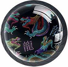 Xingruyun Wardrobe knobs Blue dragon dresser knobs