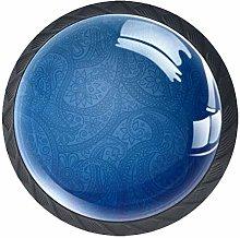 Xingruyun Wardrobe knobs Blue Pattern dresser
