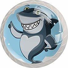 Xingruyun Wardrobe knobs Cartoon Cute Shark