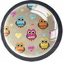 Xingruyun Wardrobe knobs Cartoon Owl dresser knobs