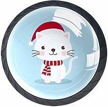Xingruyun Wardrobe knobs Christmas Cat dresser