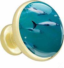 Xingruyun Wardrobe knobs dolphin dresser knobs