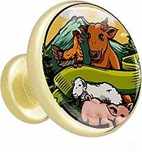 Xingruyun Wardrobe knobs Farm animals dresser