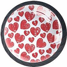 Xingruyun Wardrobe knobs Red Heart dresser knobs