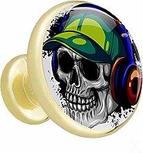 Xingruyun Wardrobe knobs Skull And Headphones