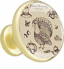 Xingruyun Wardrobe knobs Thanksgiving Turkey