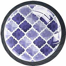 Xingruyun Wardrobe knobs Watercolor Purple dresser