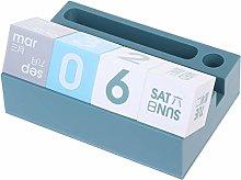 XINGYUE Desktop Calendar Block Pen Phone Holder
