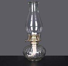 xinke Oil Lamp Glass 33cm High Antique Decor Use
