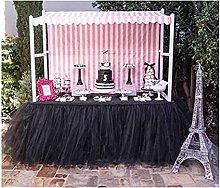 XINLEI 1Pcs DIY Tablecloth Yarn Tulle Table Skirt