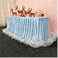 XINLEI Chiffon Wedding Table Skirt for Table Cloth