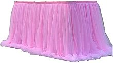 XINLEI Colorful Tablecloth Tulle Dessert Reception