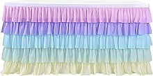 XINLEI Gradient Tulle Table Skirt for Tables in