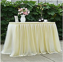 XINLEI Skirt for Table Tulle Tablecloth to the