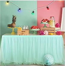 XINLEI Solid Color Party Wedding Tulle Tutu Table