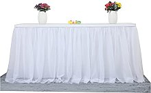 XINLEI Tulle Table Skirt Tablecloth for Party