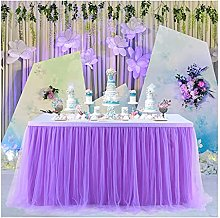 XINLEI Tulle Tablecloth for Birthday Party Wedding