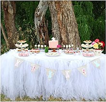 XINLEI Wedding Tulle Table Skirt Cover Party