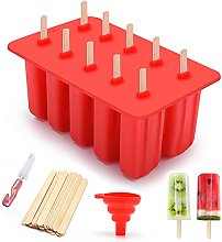 XINRUI Popsicle Molds, 10 Pack Ice Pop Mold