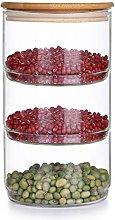Xinsiyue Glass Food Jar, Kitchen Food Storage