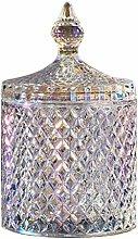 XINTIAN 1PC Cookie Decorative Glass Crystal Jar