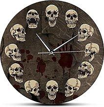 xinxin Wall Clock Anatomical Skulls Wall Clock
