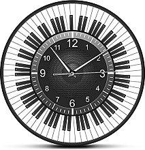 xinxin Wall Clock Circle Piano Keys With Speaker