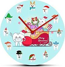 xinxin Wall Clock Dental Teeth Holidays Wall Clock