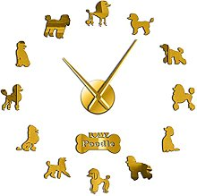 xinxin Wall Clock Gift For Poodle Lover 3D Diy