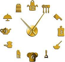xinxin Wall Clock Kitchen Cooking Tools Diy Giant