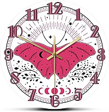 xinxin Wall Clock Pink Butterfly With Sun And Moon