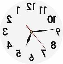 xinxin Wall Clock Reverse Wall Clock Unusual