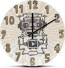 xinxin Wall Clock Sci Fi Audio Robot Machine