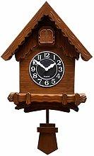 XIONGGG Wooden Traditional Cuckoo Clock Swinging